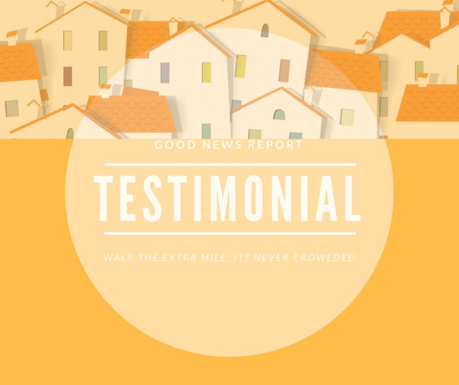 Testimonial August 2017