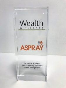 Awards Success - Wealth and Finance Award 2018.